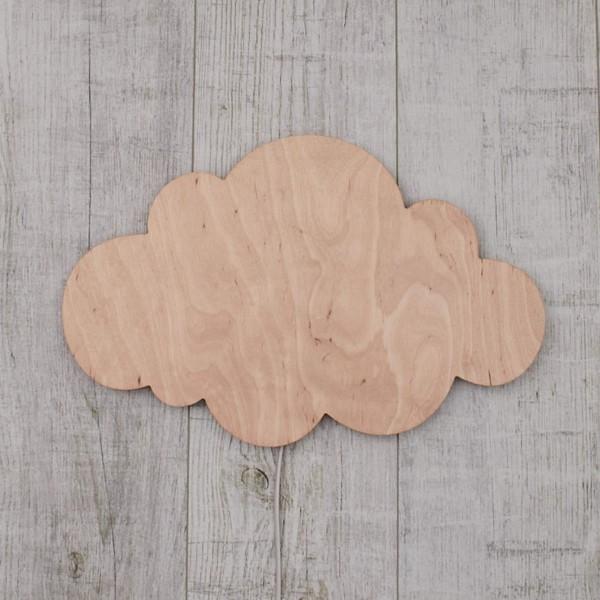 Applique Nuage en bois Naturel