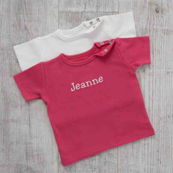 T-Shirt Duo, Fuchsia, Oeko-Tex