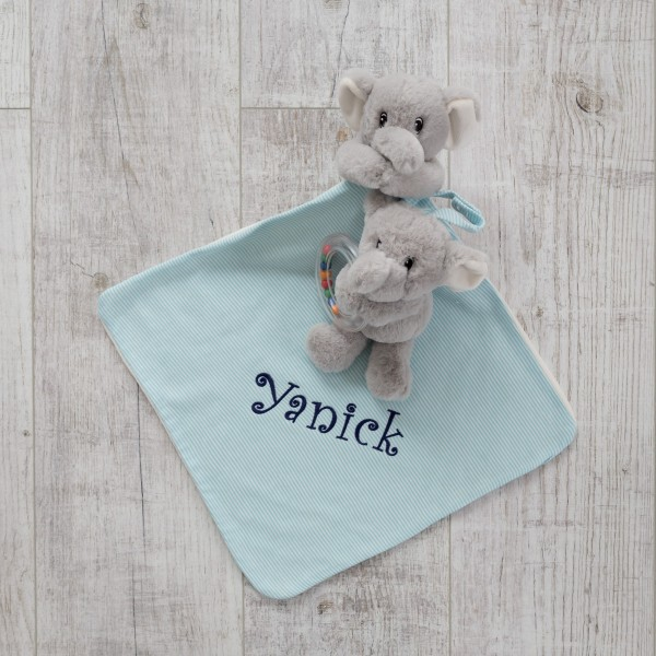 Rattle & Comforter, Blue,personalised