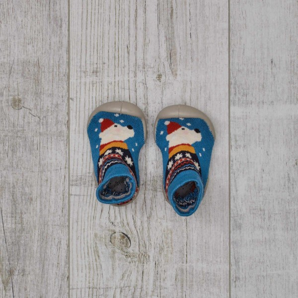 Slippers with rubber sole, Polar Bear - Phospho