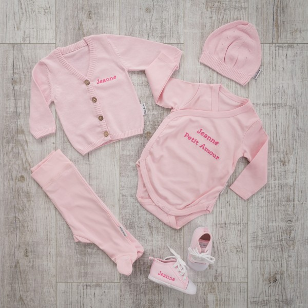 5-pieces set with pullover, Pink