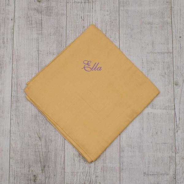 XL organic swaddle, pale yellow