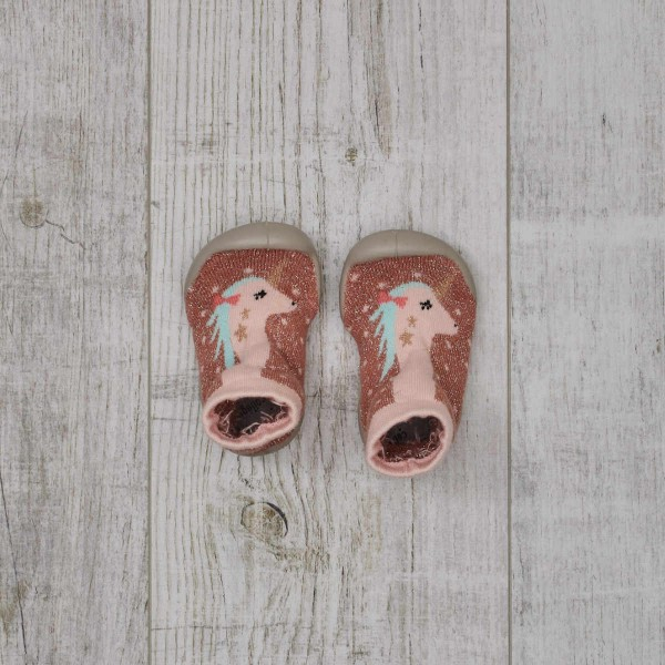 Slippers with rubber sole, Unicorn