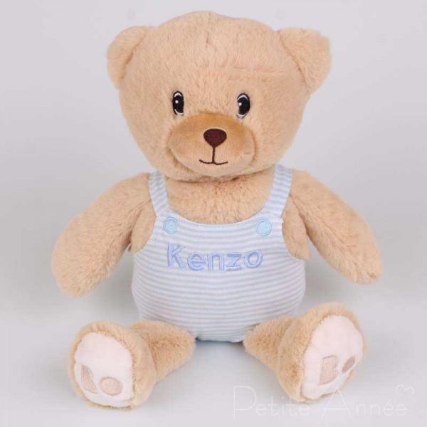 Personalisierter blauer Teddybär