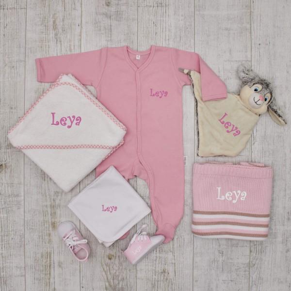 Coffret Luxe - tous les favoris pour ma princesse avec doudou lapin, rose
