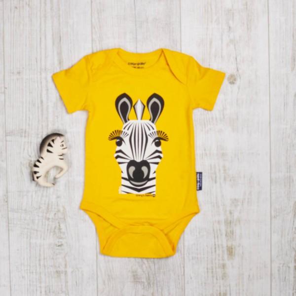 Wildes Spielset mit Kurzarm Body, Zebra