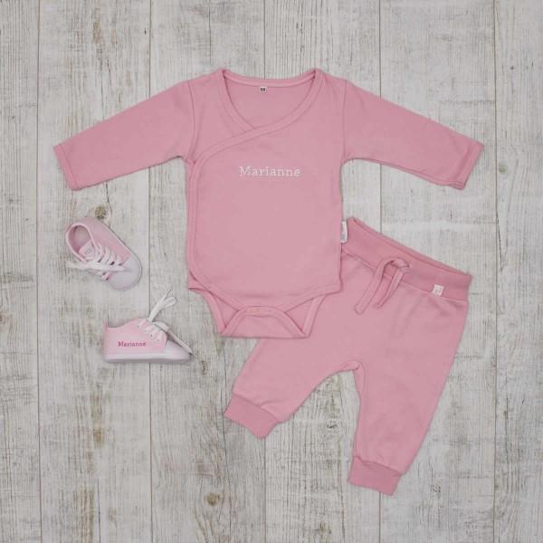 "Baby-Set""Basics"", Body, Hose & Schuhe, Rosa"