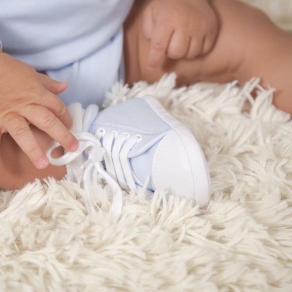 Body & Babyschuhe Set - Blau