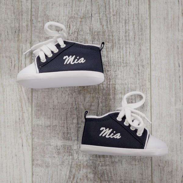Chaussures bébé, bleu marine