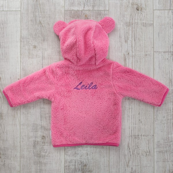 Fleece jacket, pink
