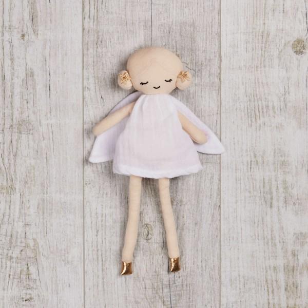 Puppe 30 cm, 'Fairy' Weiss