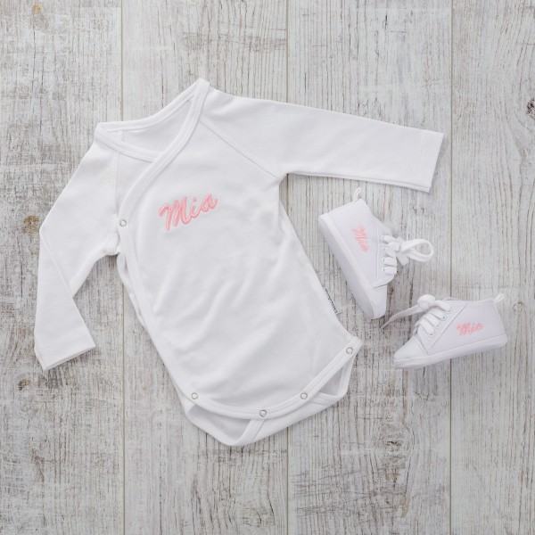 Bodysuit & Baby shoes, White
