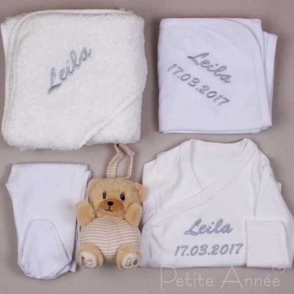 5-teiliges Neugeborenen Set - Weiss