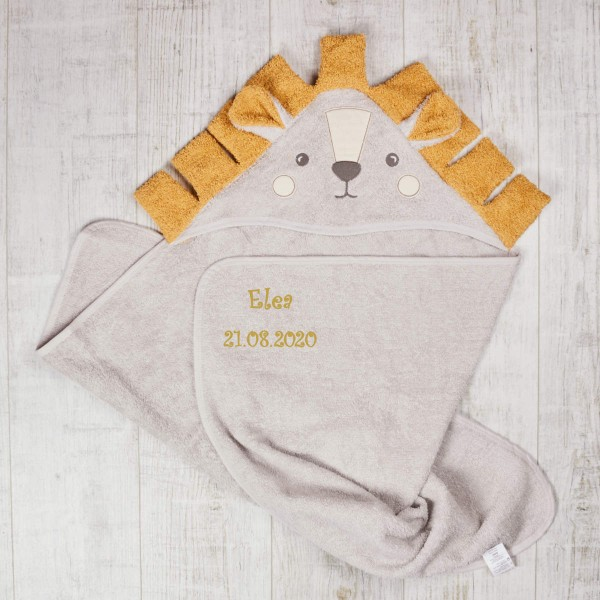 Hooded towel, Lion