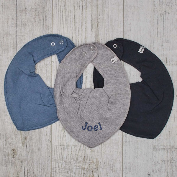 Bib 3-pack blue - grey
