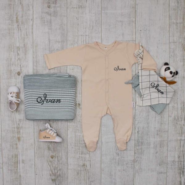 """Coffret les """"Essentiels"""" tricot et crochet pour bébé, crème & menthe"""