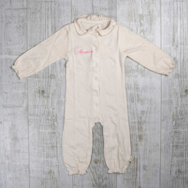 Pyjama - Combinaison Chleo avec col, Crème