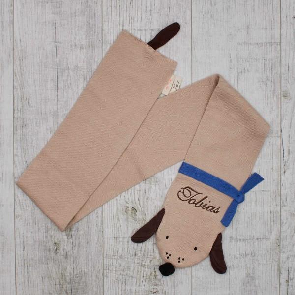 Écharpe tricotée - Chien