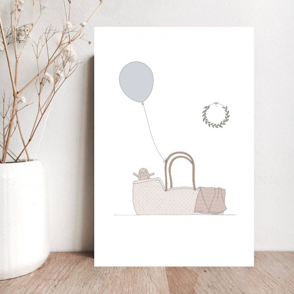 """""""A nice happiness to come"""" card - blue"""