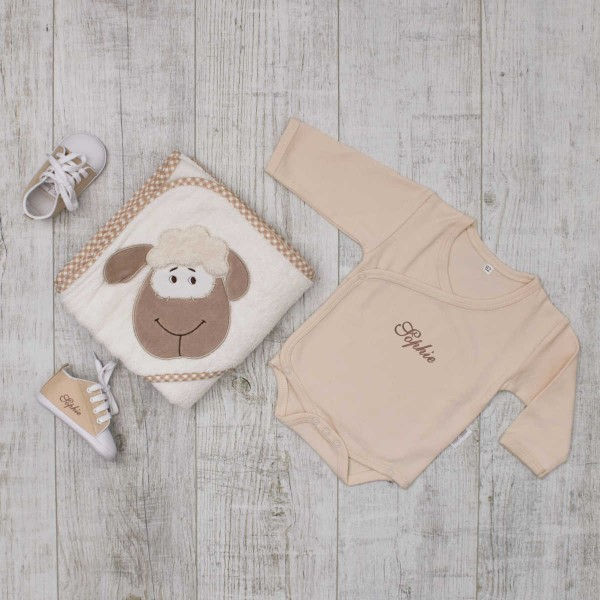 "Baby-Set ""Essentials"", Kapuzentuch, Body & Schuhe, Cremeweiss"