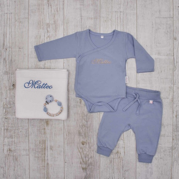 Complet Babyset - Classics white & blue
