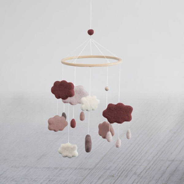 Baby Mobile - Berry Red