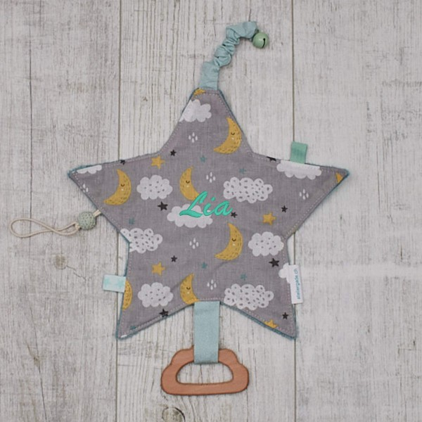 Crackle cloth, ''Star'', Moon & Clouds