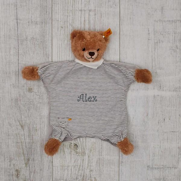 Schmusetuch Teddybär, Steiff Grau