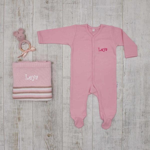 """Coffret les """"Essentiels"""" tricot et crochet pour bébé, rose"""