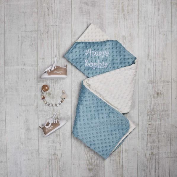 Ensemble - Couverture, Chaîne à lolette & chaussures, Bleu Océan