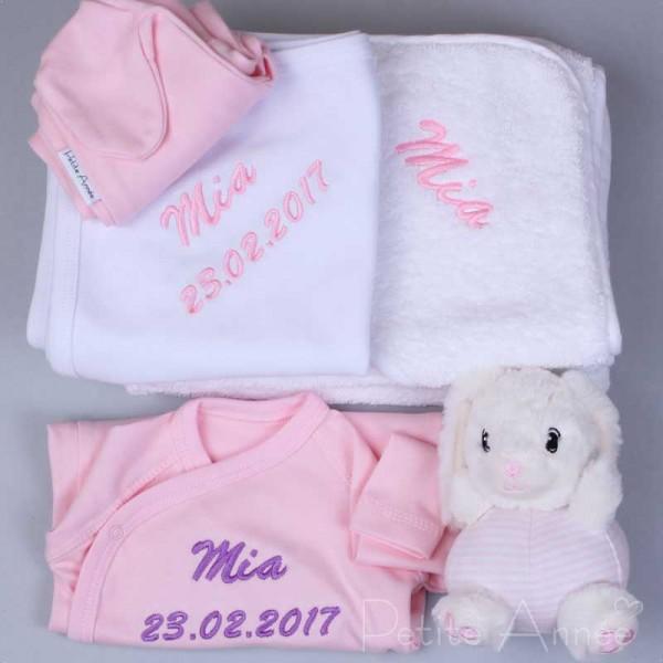 5-teiliges Neugeborenen Set - Rosa