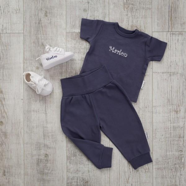 T-Shirt und Hose Set, Marineblau