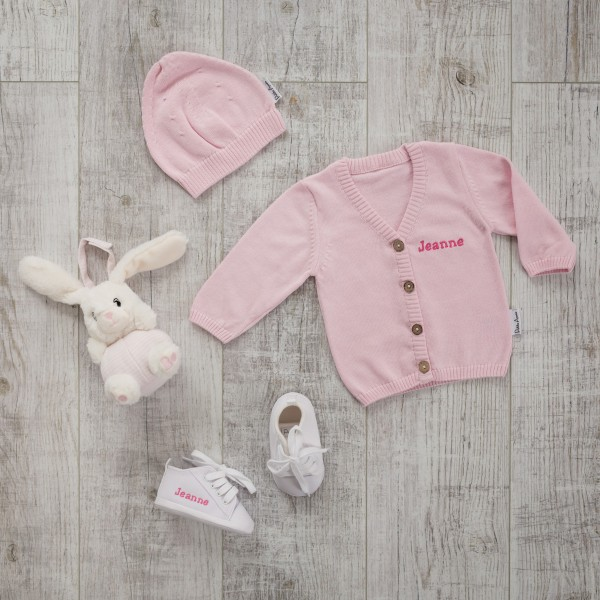 Pullover-Set with Rattle, Pink