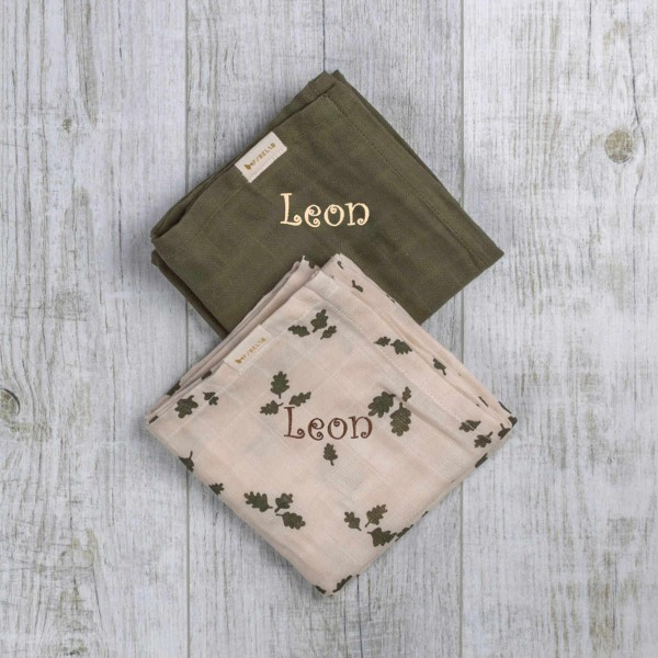 Swaddle - 2 Pack, forest floor