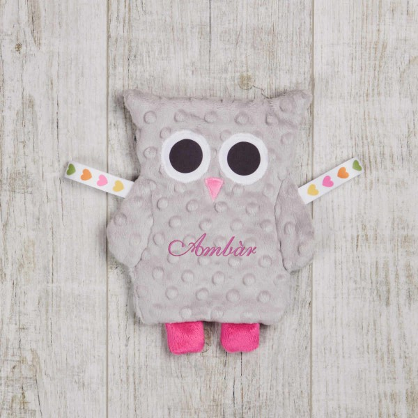Crinkle Cloth OWL, silver