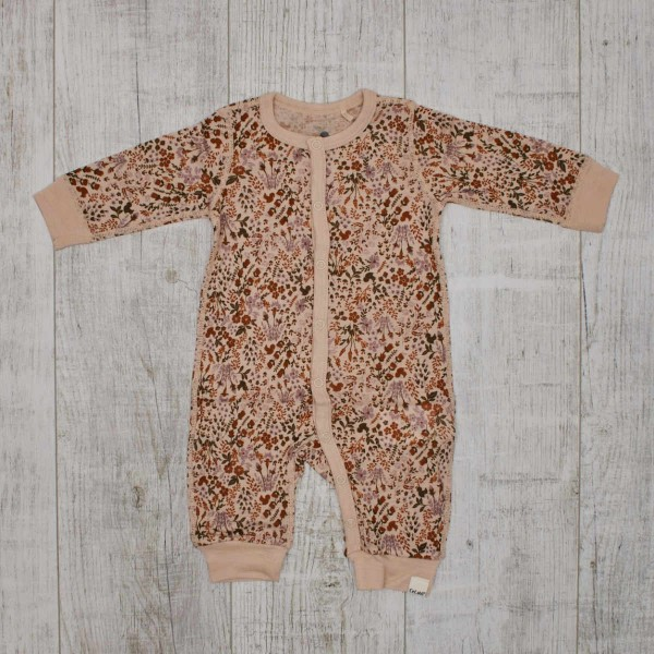 Pyjama en Merinos, fleurs d'automne