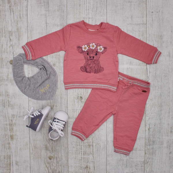 Set Sweatshirt & Sweatpants, Shoes & Bib, Pink