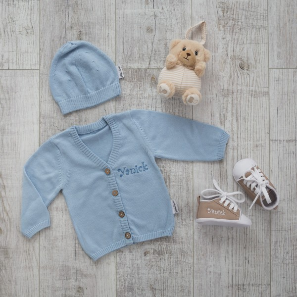Pullover Set mit Glockenspiel, Blau