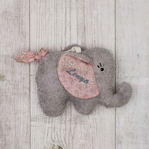 Music box Elephant, pink - ''You'll be in my heart''