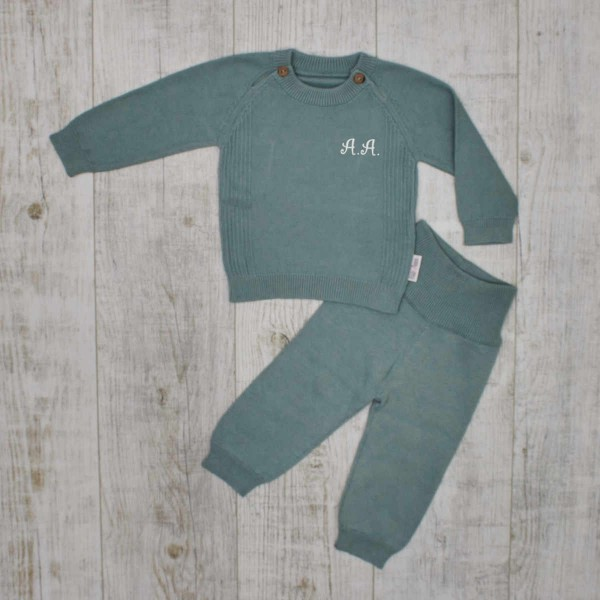 """Coffret tricot """"Basiques - Must have"""" pour bébé, menthe"""