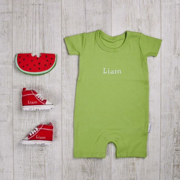 Three piece set body, biting toy & shoes, green