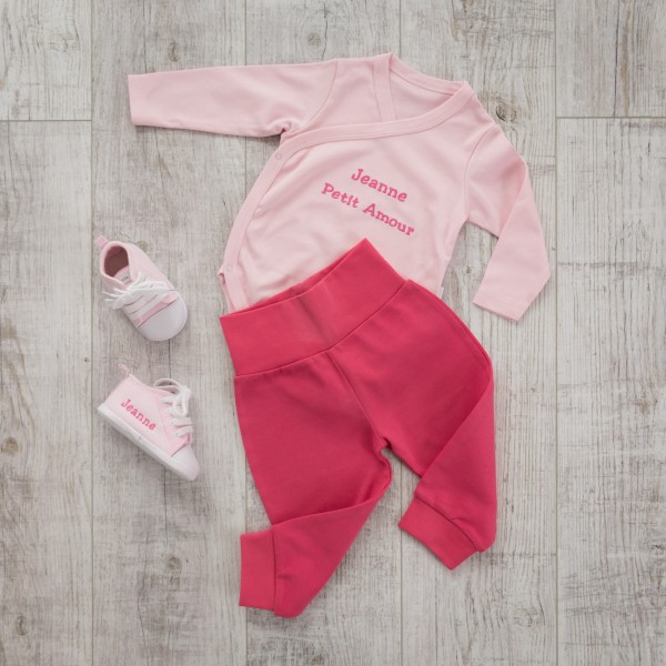 Body & trousers set, Pink