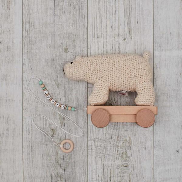 Jouet à Tirer en Crochet - Ours Polaire