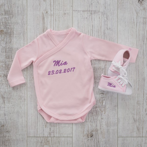 Bodysuit & Baby shoes, Pink