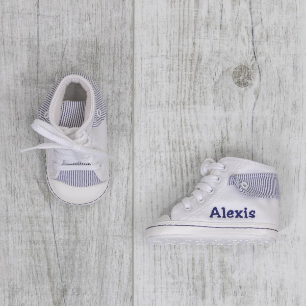 Baby shoes, Sneakers high, white