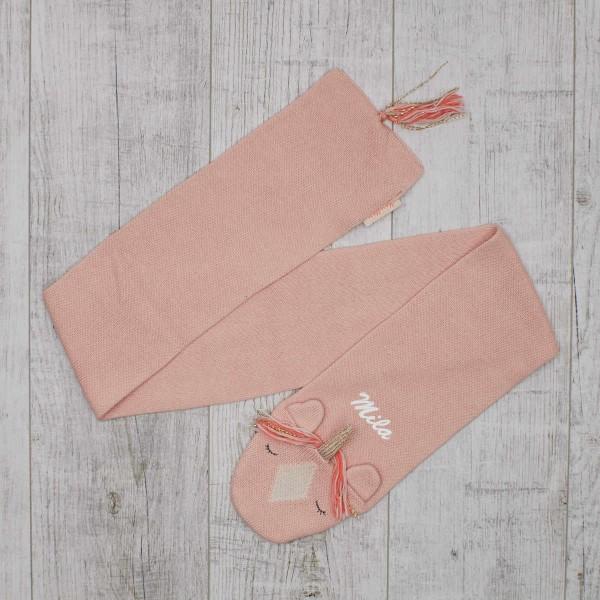 Écharpe tricotée - Licorne