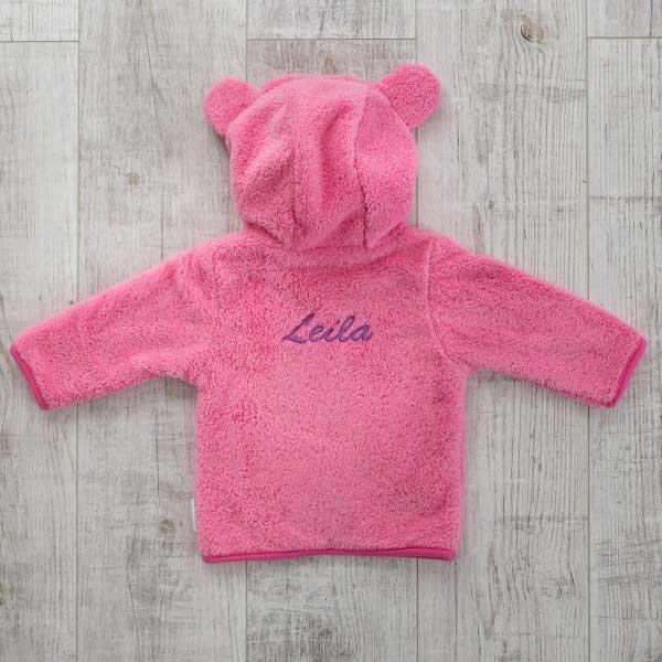 Fleece jacket, pink