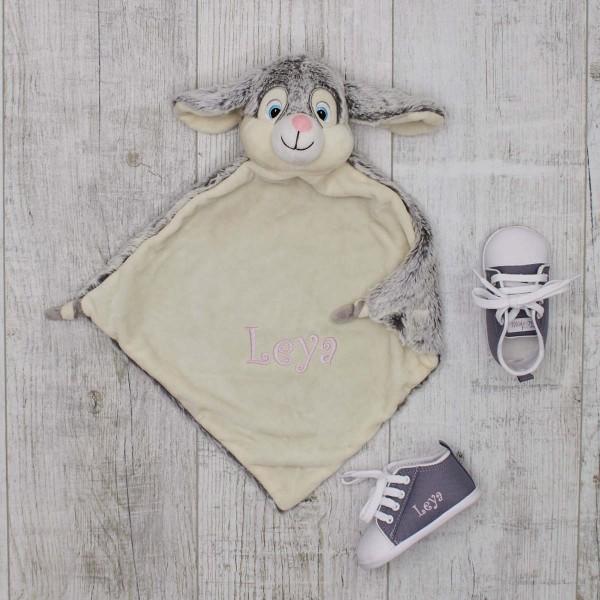Schmusetuch & Babyschuhe, Kaninchen & Grau