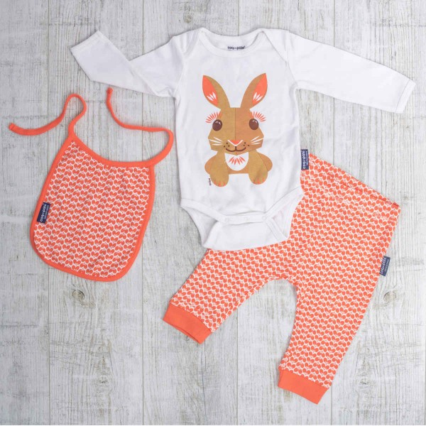 Langarm Body Set, Hase