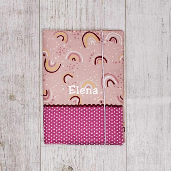Protège carnet de santé, arc-en-ciel, pink